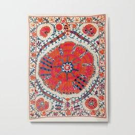 Large Medallion Suzani Bokhara Uzbekistan Embroidery Print Metal Print