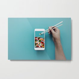 The Most Mobile Sushi Yet Metal Print