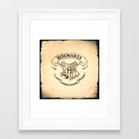 hogwarts Framed Art Prints featuring HOGWARTS by ''CVogiatzi.