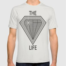 Diamond Life Mens Fitted Tee Silver SMALL