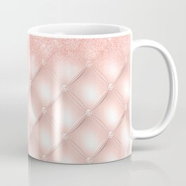 Luxury Rosegold Glitter Pearl Coffee Mug