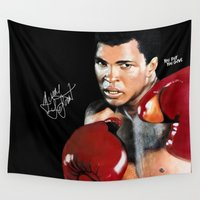 ali gulec Wall Tapestries featuring ALI 4 by YBYG