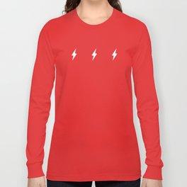 Lightning Bolt Pattern Black & White Long Sleeve T-shirt