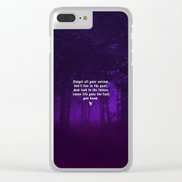 HARD ROAD Clear iPhone Case