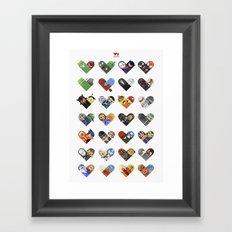 Versus Hearts Series 1 Framed Art Print