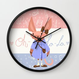 Little Missy  Aardvark in France! Wall Clock