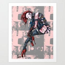 Punk Dancer Art Print