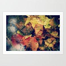 Waterlily Leaves - JUSTART © Art Print