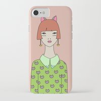 kit king iPhone & iPod Cases featuring kit by Sproot