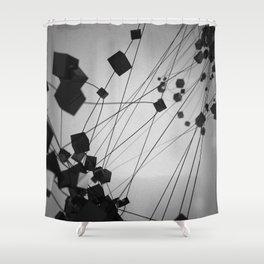 Plato / Hexahedron = Earth Shower Curtain