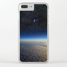 Earth from Space Clear iPhone Case