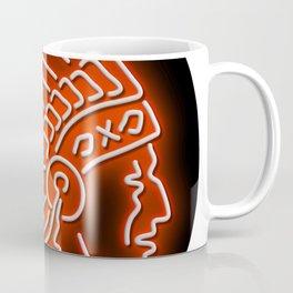 Native American Indian Chief Glowing Neon Sign Circle Coffee Mug