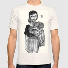 alice glass  Mens Fitted Tee Natural SMALL