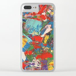 Christmas Flare Clear iPhone Case
