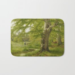 ANDERSEN-LUNDBY, ANDERS 1840 Lundby - 1923   Beech Forest in Early Summer Bath Mat