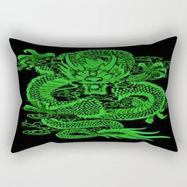 Epic Dragon Green Rectangular Pillow
