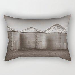 Grain Bins, Sepia Rectangular Pillow