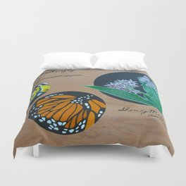 Monarchs and Milkweed Duvet Cover