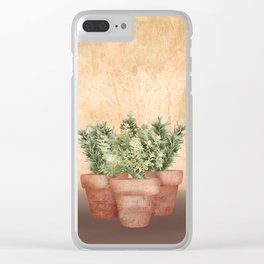 Rosemary and Thyme Clear iPhone Case