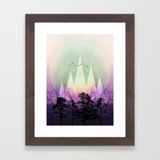 TREES under MAGIC MOUNTAINS VII Framed Art Print