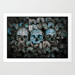 We Three Skulls Art Print