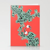 pisces Stationery Cards featuring Pisces by LindsayMichelle