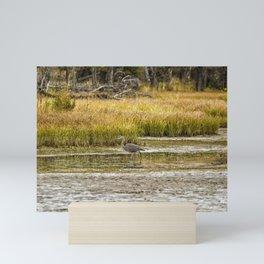 Heron on Snake River No. 2 - Grand Tetons Mini Art Print