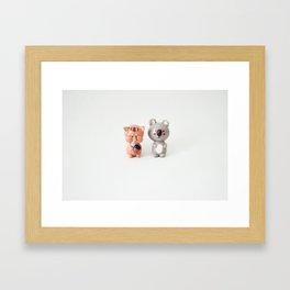 Two-Shot Framed Art Print