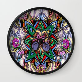 Interlaced World View Wall Clock