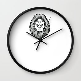 Wild Hair Don't Care Distressed Sasquatch Design for Bigfoot Lovers Wall Clock