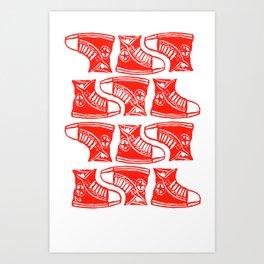 Chucks Away! Art Print
