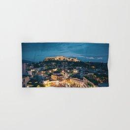 Athens Greece at Dusk Hand & Bath Towel