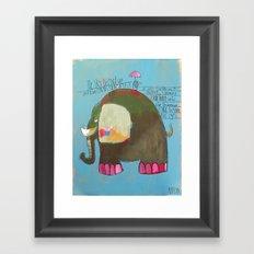 The Blue Heron and the Elephant Framed Art Print