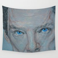 benedict cumberbatch Wall Tapestries featuring Cumberbatch by Artfully Alexa