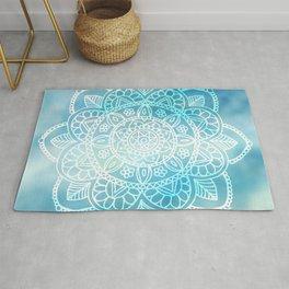 Blue Sky Mandala Rug