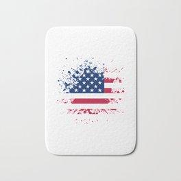 Grunge style american flag background Bath Mat