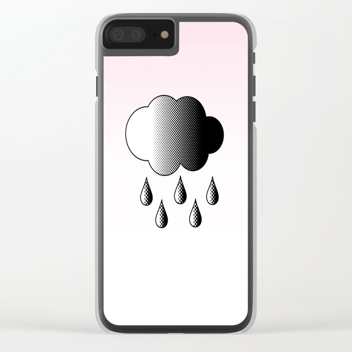 Black Cloud Clear iPhone Case