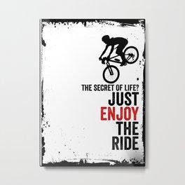 MTB Mountainbiker Gift Idea Metal Print