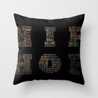 hip hop Throw Pillows featuring HIP HOP by kreatox