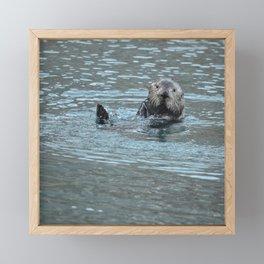 Sea Otter Fellow Framed Mini Art Print