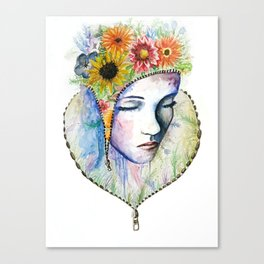 Flowers in my Mind Canvas Print