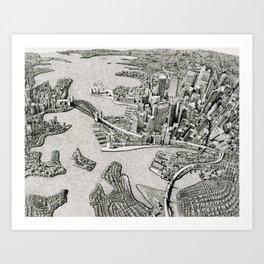 Sydney, Australia (2014) Art Print