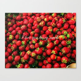 Love you berry much Canvas Print