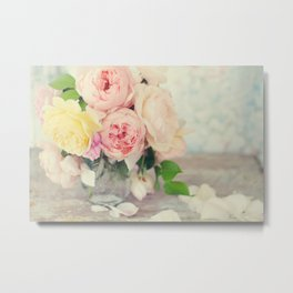 Still Life English Roses Metal Print