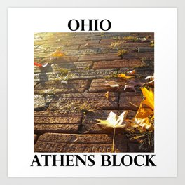 OHIO ATHENS BLOCK Art Print