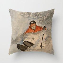 Chasing Powder  Throw Pillow