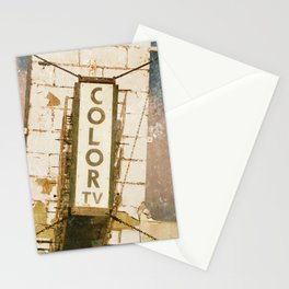 Motel Sign Color TV Stationery Cards
