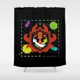Splatoon - Game of Zones Shower Curtain