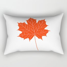Red maple leaf Rectangular Pillow
