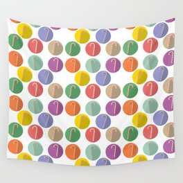 Xmas Candy canes Wall Tapestry